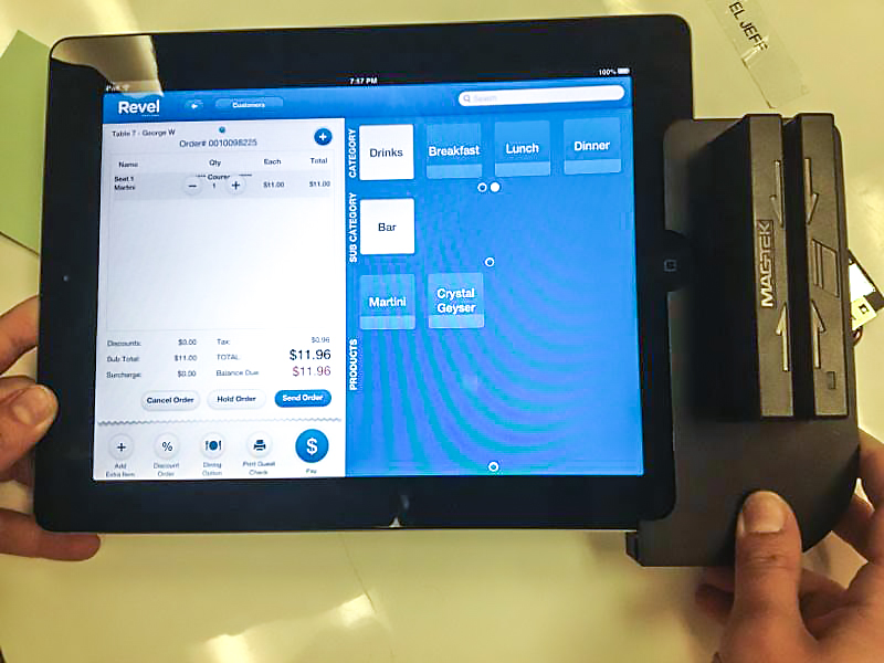 Revel Systems iPad POS first card swipe