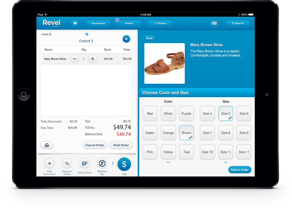 Retail Matrix Inventory Feature on the Revel Systems iPad POS