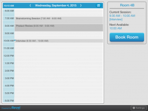 Revel Conference Room Scheduling Calendar Screenshot