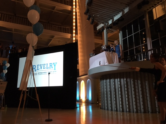 Revel Systems Lisa Falzone, CEO, and Chris Ciabarra, CTO, kicking off Revelry 2015