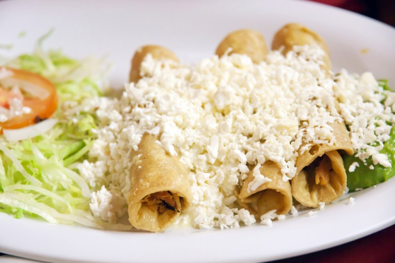 mexican food taquitos