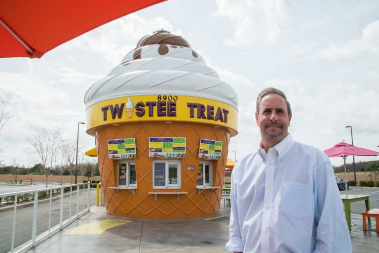 Twistee Treats uses Revel iPad POS and CEO in image