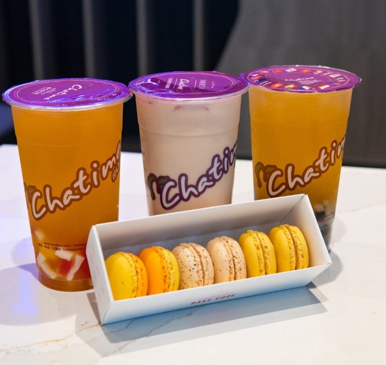 Chatime food and beverage offerings